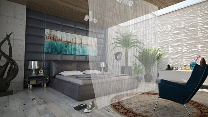 Translucent Room Divider defines space where you need it.