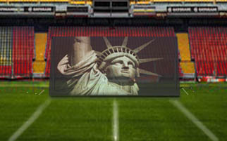 Band Field Show Ideas:  Liberty Concept for Marching Band Backdrop