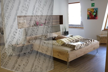 Printed Room Divider defines space where you need it.